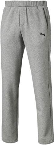 Брюки спортивные мужские Puma ESS Sweat Pants, Fl, Op., цвет: серый. 83826303. Размер L (48/50)838263_03Спортивные брюки Puma ESS Sweat Pants FL Op, выполненные из дышащей ткани с флисовой подкладкой, имеют свободный крой. Они идеально подходят для активного отдыха и занятий спортом в холодное время года. Удобные, комфортные, они не стеснят вас в движениях и подарят ощущение легкости. Ткань с добавлением полиэстера обеспечивает длительный срок эксплуатации изделия. Пояс регулируется затягивающимся шнуром. По бокам расположены прорезные карманы. Кокетка на задней стороне изделия обеспечивает лучшую посадку по фигуре. Брюки оформлены вышитым логотипом бренда.