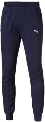 Брюки спортивные мужские Puma ESS Sweat Pants Slim, Fl, цвет: синий. 83826606. Размер L (48/50)838266_06Спортивные брюки Puma ESS Sweat Pants Slim, Fl выполнены из мягкого трикотажа, флисовая внутренняя отделка. Модель декорирована вышитым логотипом Puma. Среди других отличительных особенностей изделия - пояс из его основного материала с продернутым затягивающимся шнуром, карманы в швах, нашитая сверху задняя кокетка для лучшей посадки в обтяжку по фигуре, а также отделка манжет по низу штанин трикотажем в резинку.