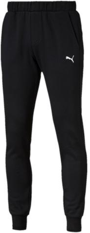 Брюки спортивные мужские Puma ESS Sweat Pants Slim, Fl, цвет: черный. 83826601. Размер XL (50/52)838266_01Спортивные брюки Puma ESS Sweat Pants Slim, Fl выполнены из мягкого трикотажа, флисовая внутренняя отделка. Модель декорирована вышитым логотипом Puma. Среди других отличительных особенностей изделия - пояс из его основного материала с продернутым затягивающимся шнуром, карманы в швах, нашитая сверху задняя кокетка для лучшей посадки в обтяжку по фигуре, а также отделка манжет по низу штанин трикотажем в резинку.