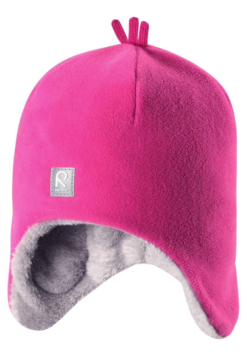 Шапка детская Reima Toppen, цвет: розовый. 528452-4620. Размер 48528452-4620Красивая и модная шапка для малышей и детей постарше украшена забавными деталями в зимнем стиле! Она сделана из теплого и мягкого флиса и имеет уютную вязаную подкладку. Ветронепроницаемые вставки в области ушей защищают маленькие ушки от резкого ветра и холодной погоды во время игры в снежки. Стильные и классические цвета оживят любую одежду и легко с ней сочетаются.