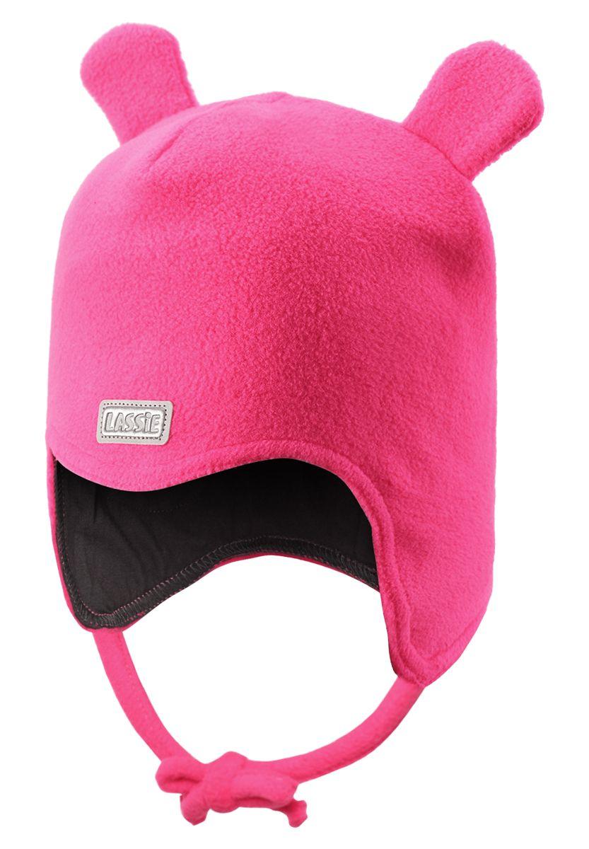 Шапка для девочки Lassie, цвет: розовый. 718690-3380. Размер S (46/48)718690-3380Очень важно, чтобы ушки были хорошо защищены во время игр на свежем воздухе. Эта теплая шапка для малышей идеальна для холодных зимних деньков! Благодаря быстросохнущему флису и мягкой подкладке из джерси, шапка очень удобная и приятная на ощупь, а ветронепроницаемые вставки в области ушей обеспечивают дополнительную защиту. Светоотражающая эмблема Lassie спереди.