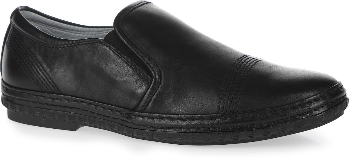 Туфли для мальчика Kapika, цвет: черный. 23356-1. Размер 3523356-1Стильные туфли от Kapika придутся по душе вашему юному моднику!Модель выполнена из натуральной кожи и дополнена эластичными резинками на подъеме для лучшей фиксации изделия на ноге. Обувь оформлена декоративной прострочкой. Подкладка и стелька из ЭВА материала, изготовленные из натуральной кожи, предотвратят натирание и гарантируют уют. Стелька дополнена супинатором, который обеспечивает правильное положение ноги ребенка при ходьбе, предотвращает плоскостопие. Подошва оснащена рифлением для лучшего сцепления с различными поверхностями.Удобные классические туфли - незаменимая вещь в гардеробе каждого мальчика.