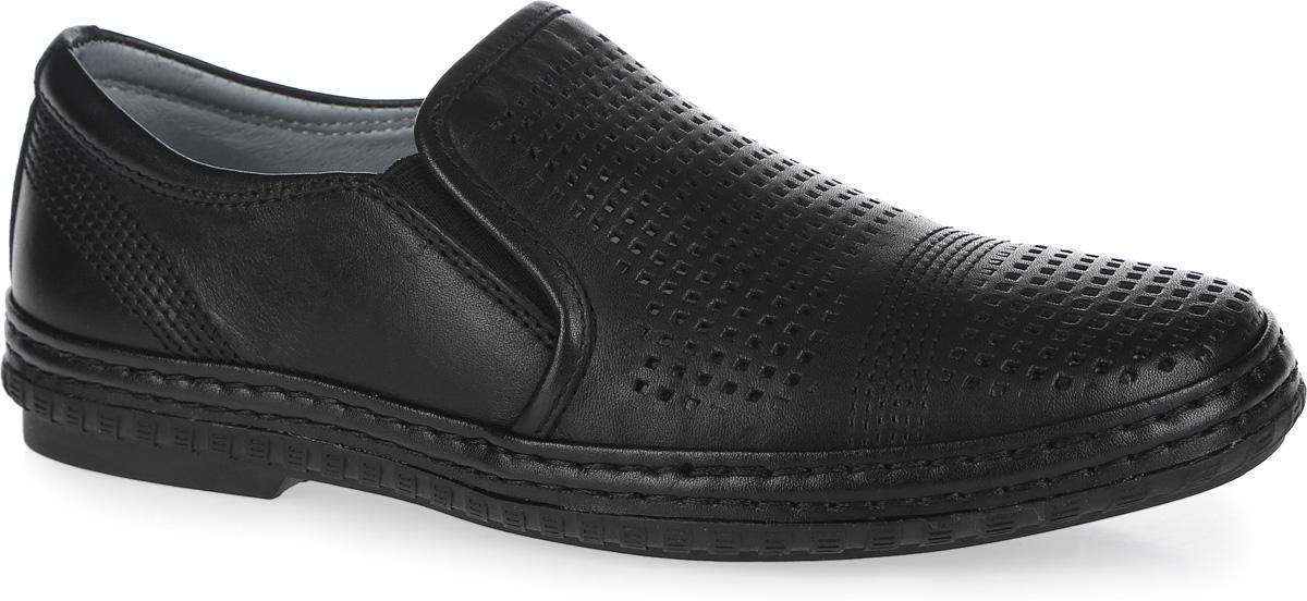 Туфли для мальчика Kapika, цвет: черный. 23357-1. Размер 3523357-1Стильные туфли от Kapika придутся по душе вашему юному моднику!Модель выполнена из натуральной кожи и дополнена эластичными резинками на подъеме для лучшей фиксации изделия на ноге. Обувь оформлена декоративной прострочкой и крупной перфорацией. Подкладка и стелька из ЭВА материала, изготовленные из натуральной кожи, предотвратят натирание и гарантируют уют. Стелька дополнена супинатором, который обеспечивает правильное положение ноги ребенка при ходьбе, предотвращает плоскостопие. Подошва оснащена рифлением для лучшего сцепления с различными поверхностями.Удобные классические туфли - незаменимая вещь в гардеробе каждого мальчика.