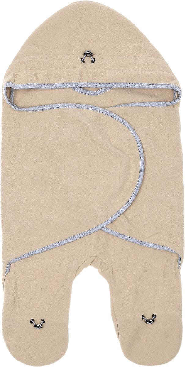 Комбинезон-конверт для новорожденного Mums Era Латте, цвет: песочный. 35181. Размер 54/62, 0-3 месяца35181Комбинезон-конверт Mums Era Латте подойдет как для выписки из роддома, так и для повседневного использования. Изделие выполнено из двустороннего флиса (100% полиэстер). Материал необычайно мягкий, тактильно приятный, хорошо пропускает воздух, не раздражает нежную кожу ребенка.Благодаря штанинам комбинезон удобен для поездок малыша в автокресле или в люльке (где его нужно пристегнуть). На изделии имеется специальная вставка под подгузник для дополнительного объема. Рукава комбинезона дополнены удобной застежкой-липучкой, что позволяет спеленать малыша как потуже, так и посвободнее. На капюшоне, талии и штанинах предусмотрена регулировка объема в виде эластичных шнурков со стопперами. Шея и грудь утеплены дополнительным слоем флиса. По краям комбинезон-конверт оформлен окантовкой.Комбинезон-конверт - удобная и многофункциональная одежда для первых месяцев жизни младенца. Он защитит малыша от холода и сквозняка, а также подарит ощущение тепла, уюта и комфорта!