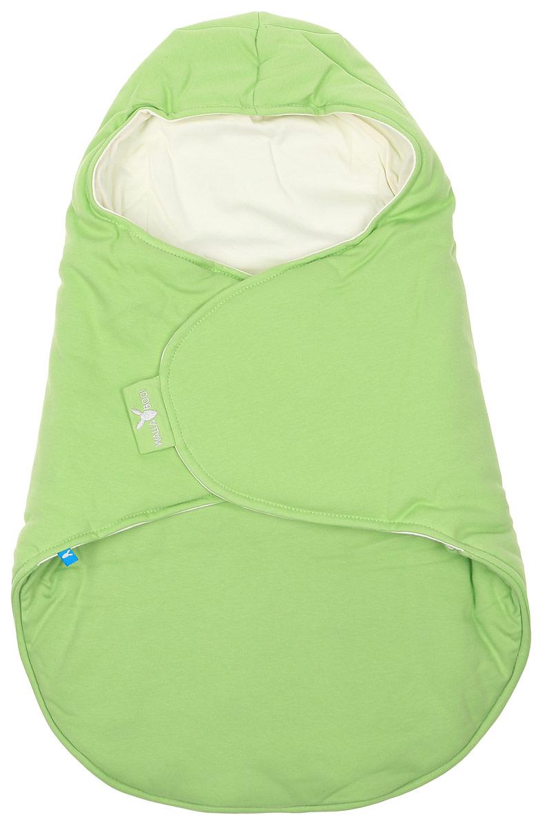 Конверт-кокон для новорожденного Wallaboo, цвет: салатовый, молочный. BBC.0214.4605. Размер 0месBBC.0214.4605Конверт-кокон для новорожденного Wallaboo идеально подойдет для дневного и ночного сна, а также прогулок икормления малыша. Мягкий и нежный, этот конверт выполнен из высококачественного натурального хлопка и утеплен синтепоном. Он подойдет для малышей с самого рождения. Верхняя часть конверта выполнена в виде капюшона, она бережно обхватывает голову малыша и не даст ему замерзнуть. Ножки ребенка всегда будут в тепле благодаря удобному откидывающемуся клапану. Конверт не имеет застежек, что обеспечивает дополнительную безопасность при использовании. Такой конверт не ограничивает движения малыша и подарит ему чувство комфорта и защищенности. Такой конверт подойдет для большинства колясок и детских сидений. Он сделает прогулки малыша уютными ибезопасными.