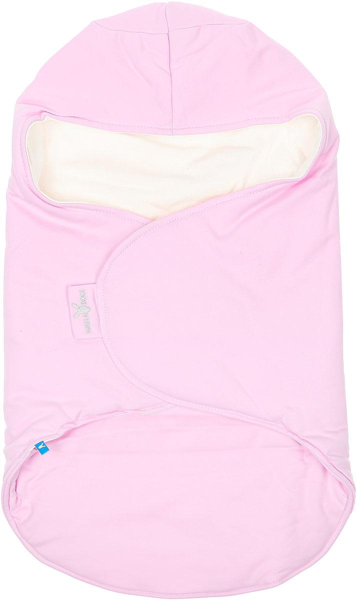 Конверт-кокон для новорожденного Wallaboo, цвет: розовый, молочный. BBC.0214.4603. Размер 0месBBC.0214.4603Конверт-кокон для новорожденного Wallaboo идеально подойдет для дневного и ночного сна, а также прогулок икормления малыша. Мягкий и нежный, этот конверт выполнен из высококачественного натурального хлопка и утеплен синтепоном. Он подойдет для малышей с самого рождения. Верхняя часть конверта выполнена в виде капюшона, она бережно обхватывает голову малыша и не даст ему замерзнуть. Ножки ребенка всегда будут в тепле благодаря удобному откидывающемуся клапану. Конверт не имеет застежек, что обеспечивает дополнительную безопасность при использовании. Такой конверт не ограничивает движения малыша и подарит ему чувство комфорта и защищенности. Такой конверт подойдет для большинства колясок и детских сидений. Он сделает прогулки малыша уютными ибезопасными.