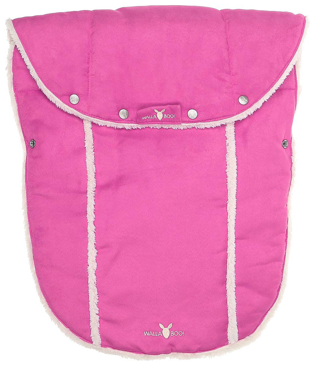 Конверт-муфта для новорожденного Wallaboo, цвет: розовый. WNN.0306.203. Размер 0 месяцевWNN.0306.203Многофункциональный и теплый меховой конверт-муфта для новорожденного Wallaboo отлично подойдет для долгих прогулок. Конверт изготовлен из микроволокнистой замши, необычайно мягкой и тактильно приятной. Теплая меховая подкладка выполнена из полиэстера. В качестве наполнителя используется синтепон (100% полиэстер).Конструкция модели снабжена двумя удобными застежками-молниями. Она раскладывается на два отдельных меховых коврика. Верхняя часть конверта дополнена застежками-кнопками, образующими капюшон. Когда ребенок подрастет, можно использовать конверт в санках, отстегнув переднюю часть конверта. В конверте имеются отверстия под ремни безопасности коляски или автомобильного кресла. Спереди предусмотрен отворот, фиксирующийся с помощью кнопок. Изделие украшено вышитыми логотипами бренда.В таком конверте малышу будет тепло, удобно и комфортно!