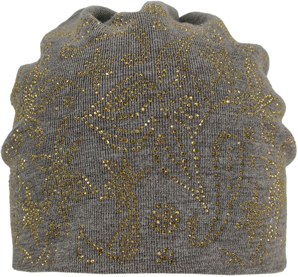 Шапка женская Level Pro, цвет: серо-зеленый. 383624. Размер 56/58383624Стильная женская шапка Level Pro дополнит ваш наряд и не позволит вам замерзнуть в холодное время года. Шапка выполнена из шерсти и полиэстера, что позволяет ей великолепно сохранять тепло, и обеспечивает высокую эластичность и удобство посадки. Изделие оформлено оригинальным принтом выложенным из страз. Такая шапка составит идеальный комплект с модной верхней одеждой, в ней вам будет уютно и тепло.