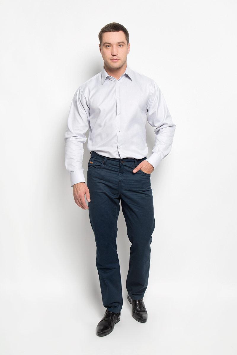 Рубашка мужская BTC, цвет: светло-серый. 12.014845. Размер 48-17612.014845Мужская рубашка BTC выполнена из натурального хлопка. Материал изделия мягкий, тактильно приятный, не стесняет движений и хорошо пропускает воздух. Рубашка прямого кроя с отложным воротником и длинными рукавами застегивается спереди на пуговицы. На манжетах также предусмотрены застежки-пуговицы. Рубашка отлично подойдет для повседневной носки, в ней вам будет удобно и комфортно!