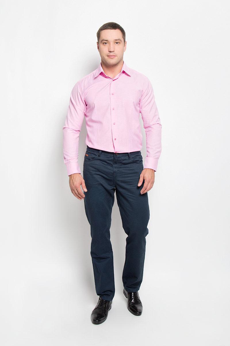 Рубашка мужская BTC, цвет: розовый. 12.014851. Размер 52-17612.014851Мужская рубашка BTC выполнена из натурального хлопка. Материал изделия мягкий, тактильно приятный, не стесняет движений и позволяет коже дышать, обеспечивая комфорт при носке. Рубашка слегка приталенного кроя с отложным воротником и длинными рукавами застегивается спереди на пуговицы. На манжетах также предусмотрены застежки-пуговицы. Рубашка станет стильным дополнением к вашему гардеробу!