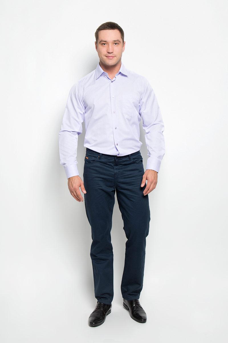 Рубашка мужская BTC, цвет: светло-сиреневый. 12.014876. Размер 52-17612.014876Мужская рубашка BTC, выполненная из высококачественного материала, станет замечательным дополнением к вашему гардеробу. Изделие мягкое, тактильно приятное, не сковывает движений и хорошо пропускает воздух, обеспечивая комфорт при носке.Модель прямого кроя с отложным воротником и длинными рукавами застегивается спереди на пуговицы по всей длине. Манжеты дополнены застежками-пуговицами. На груди расположен накладной карман. Такая рубашка подчеркнет ваш вкус и поможет создать стильный образ!
