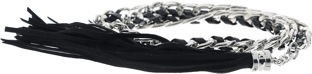 Ремень женский Baon, цвет: черный, серебряный. B386501. Размер 75B386501_BlackСтильный женский ремень Baon станет идеальным дополнением к вашему образу. Изделие изготовлено из качественного полиуретана зернистой текстуры и металла. Ремень оформлен декоративной цепочкой и подвеской в виде веревочек. Ремень фиксируется с помощью замка-крючка, который выполнен из металла.Такой ремень станет незаменимым аксессуаром в вашем гардеробе, который подчеркнет ваш стиль и индивидуальность.