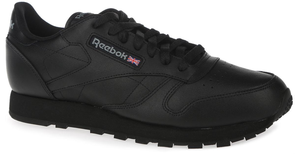 Кроссовки мужские Reebok Classic Leather, цвет: черный. 2267. Размер 11,5 (46)2267Стильные кроссовки Reebok Classic Leather не оставят вас равнодушным благодаря своей легкости и дизайну. Модель выполнена из натуральной кожи. Боковая часть оформлена текстильной вставкой с названием бренда, язычок - нашивкой с логотипом Reebok, задник - надписью с названием бренда. Мыс оформлен перфорацией. Модель фиксируется на ноге с помощью шнурков. Мягкий манжет создает комфорт при ходьбе и предотвращает натирание. Подкладка изготовлена из мягкого текстиля, удобного при носке. Стелька выполнена из текстиля с добавлением легкого ЭВА-материала, который обеспечивает отличную амортизацию. Подошва выполнена из легкой и гибкой резины, устойчивой к истиранию. Рифление на подошве гарантирует идеальное сцепление с поверхностью.Такие стильные и функциональные кроссовки займут достойное место в вашем гардеробе.