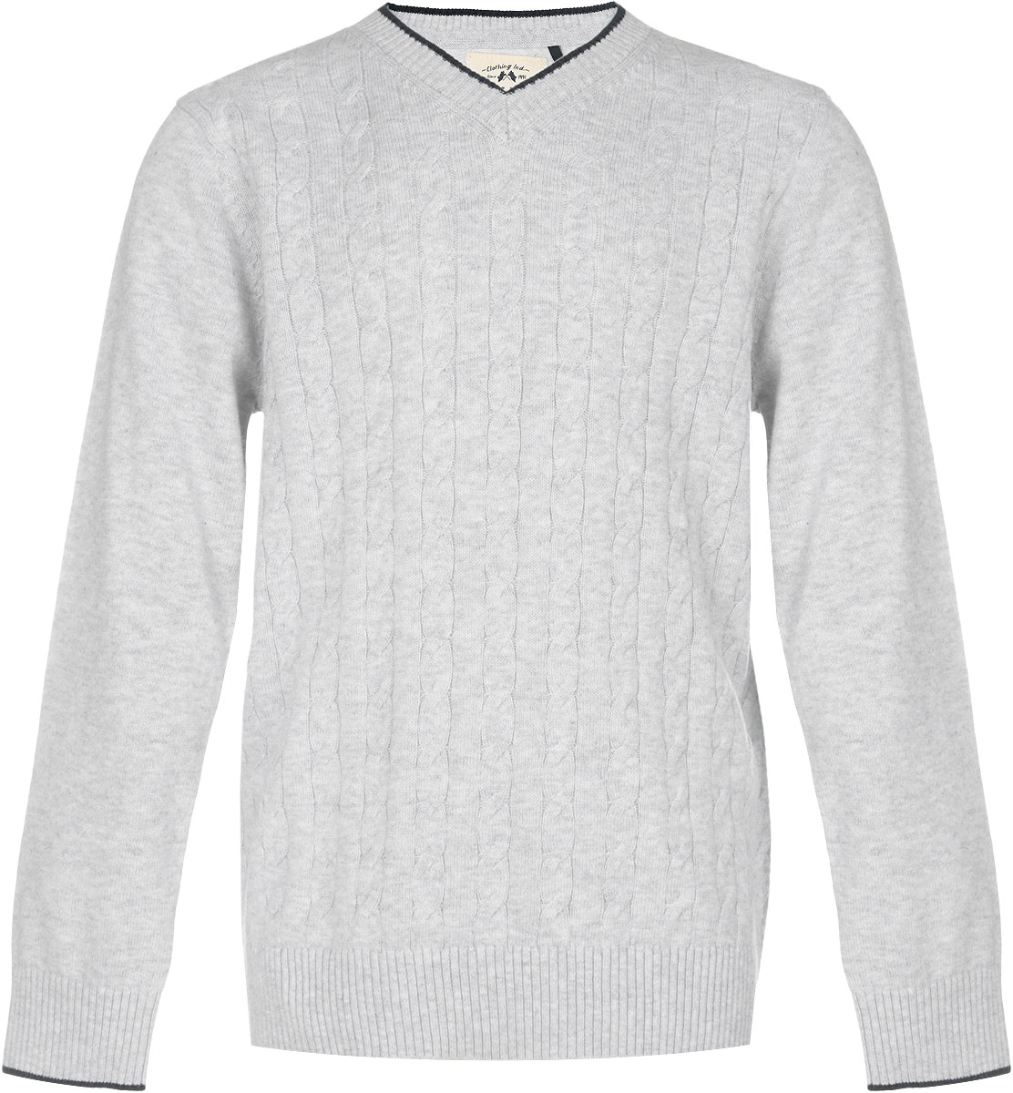 Пуловер для мальчика Sela, цвет: светло-серый меланж. JR-814/259-6332. Размер 152, 12 летJR-814/259-6332Пуловер для мальчика Sela выполнен из натурального хлопка. Материал изделия мягкий и тактильно приятный, не стесняет движений и обладает высокими дышащими свойствами.Классическая модель с длинными рукавами и V-образным вырезом горловины прекрасно сочетается с рубашками. Низ изделия, манжеты и горловина связаны крупной резинкой. Спереди пуловер оформлен вязаным узором. Пуловер - хорошая альтернатива пиджаку в прохладное время года. Являясь важным атрибутом школьной моды, он обеспечивает тепло и комфорт.