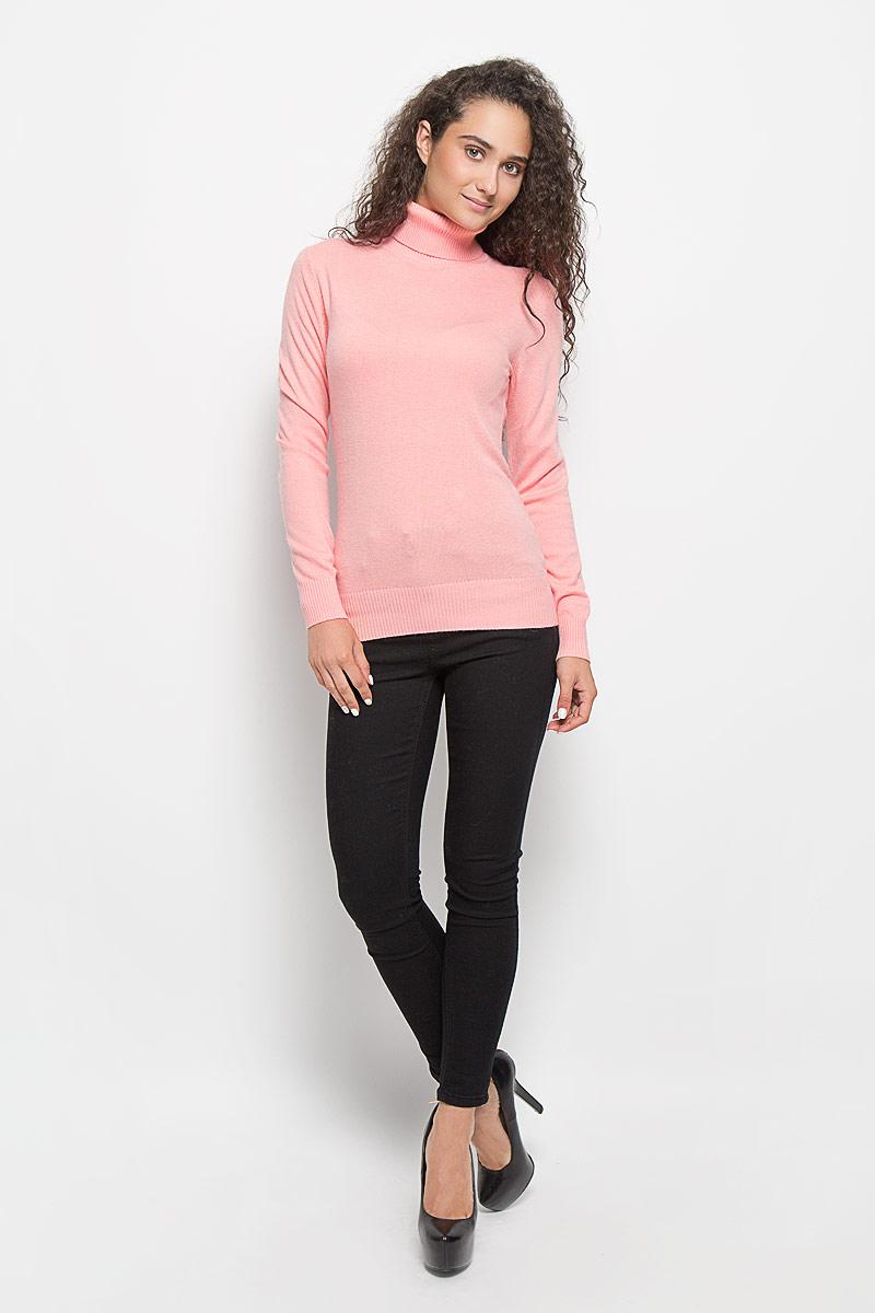 Водолазка женская Baon, цвет: розовый. B136704. Размер M (46)B136704_Dawn Pink MelangeОригинальная женская водолазка Baon, изготовленная из высококачественной пряжи, мягкая и приятная на ощупь, не сковывает движений и обеспечивает наибольший комфорт.Модель с воротником-гольф и длинными рукавами великолепно подойдет для создания образа в стиле Casual. Однотонная водолазка отлично сочетается с любыми нарядами. Низ изделия, манжеты и воротник связаны резинкой. Эта водолазка послужит отличным дополнением к вашему гардеробу. В ней вы всегда будете чувствовать себя уютно и комфортно в прохладную погоду.