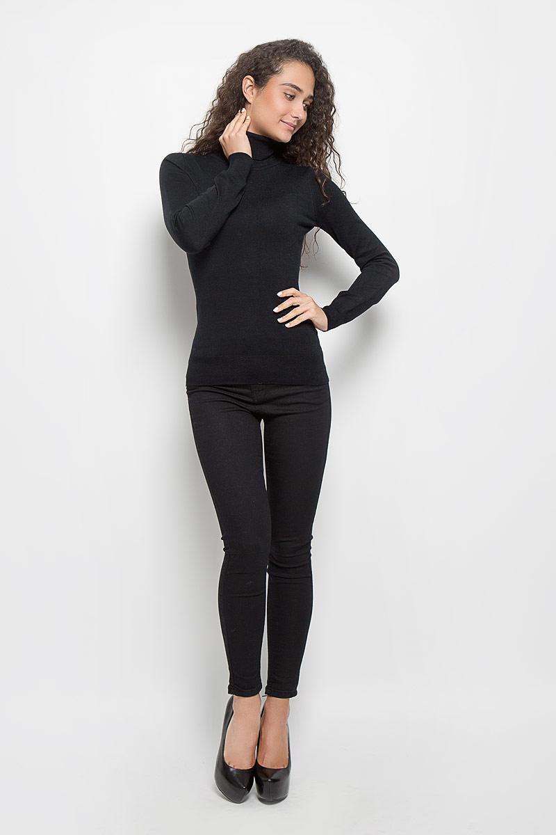 Водолазка женская Baon, цвет: черный. B136702. Размер L (48)B136702_BlackОригинальная женская водолазка Baon, изготовленная из высококачественной пряжи, мягкая и приятная на ощупь, не сковывает движений и обеспечивает наибольший комфорт.Модель с воротником-гольф и длинными рукавами великолепно подойдет для создания образа в стиле Casual. Однотонная водолазка отлично сочетается с любыми нарядами.Эта водолазка послужит отличным дополнением к вашему гардеробу. В ней вы всегда будете чувствовать себя уютно и комфортно в прохладную погоду.