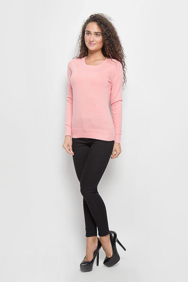 Джемпер женский Baon, цвет: розовый. B136705. Размер L (48)B136705_Dawn Pink MelangeОригинальный женский джемпер Baon, изготовленный из высококачественной пряжи, мягкий и приятный на ощупь, не сковывает движений и обеспечивает наибольший комфорт.Модель с круглым вырезом горловины и длинными рукавами великолепно подойдет для создания образа в стиле Casual. Однотонный джемпер отлично сочетается с любыми нарядами. Низ изделия, манжеты и горловина связаны резинкой. Этот джемпер послужит отличным дополнением к вашему гардеробу. В нем вы всегда будете чувствовать себя уютно и комфортно в прохладную погоду.