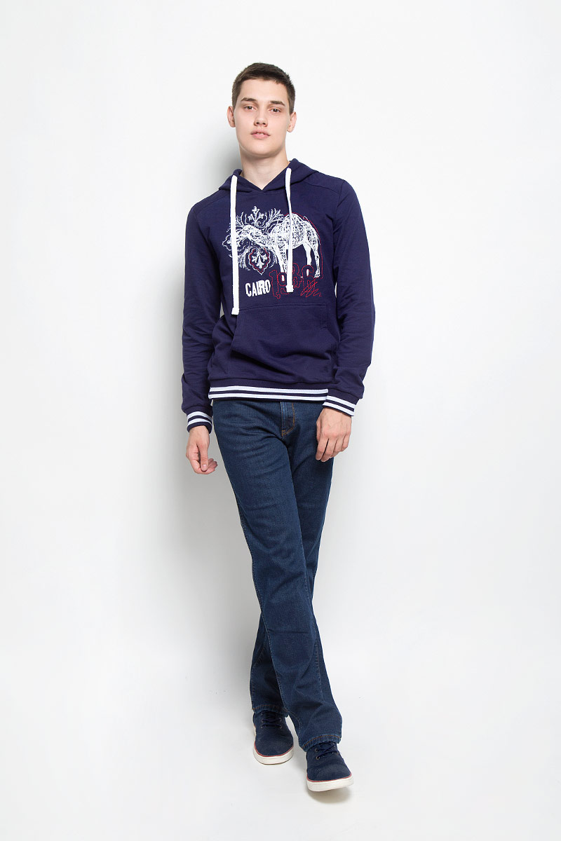 Джинсы мужские Wrangler Texas Stretch, цвет: темно-синий. W1213338W. Размер 30-32 (46-32)W1213338WСтильные утепленные мужские джинсы Texas Stretch от Wrangler, выполненные из хлопка с добавлением эластана, отлично дополнят ваш образ. Ткань изделия плотная и тактильно приятная. Мягкая подкладка выполнена из 100% полиэстера.Джинсы застегиваются на пуговицу и имеют ширинку на застежке-молнии. На поясе предусмотрены шлевки для ремня. Спереди модель дополнена двумя втачными карманами и маленьким накладным карманом, сзади - двумя накладными карманами, один из которых оформлен фирменной нашивкой. Модель оформлена контрастной прострочкой.Эти модные и в тоже время комфортные джинсы послужат отличным дополнением к вашему гардеробу. В них вы всегда будете чувствовать себя уютно и комфортно.