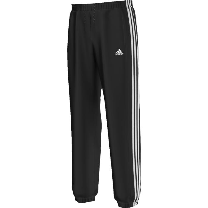 Брюки спортивные мужские adidas Ess 3s Pant Ch, цвет: черный. AA1674. Размер S (44/46)AA1674Утепленные брюки Sport Essentials - обновленная версия спортивной классики. Мужские спортивные брюки из отводящей влагу ткани climalite, которая эффективно отводит влагу от тела, сохраняя комфорт до, во время и после тренировки. Эластичные манжеты и плоские швы, которые не натирают кожу. Прорезные карманы в боковых швах. Двухцветный шнурок.
