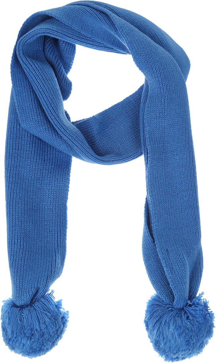 Шарф для девочки Sela, цвет: голубой. SC-642/007AS-6302. Размер 125 см x 13 смSC-642/007AS-6302Стильный шарф Sela идеально подойдет для прогулок в холодное время года. Он обладает хорошими дышащими свойствами и хорошо удерживает тепло. Шарф оформлен оригинальными помпонами. Такой шарф станет модным и стильным предметом детского гардероба. Он улучшит настроение даже в хмурые холодные дни.