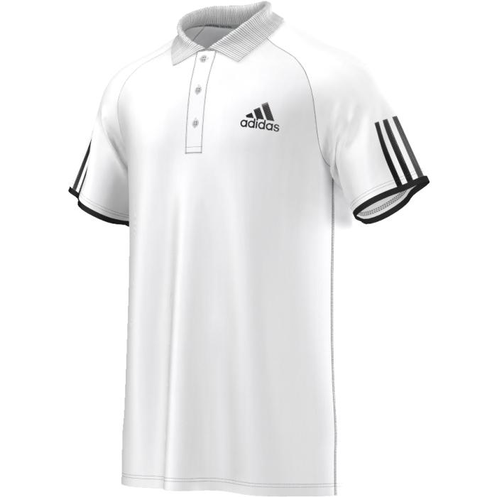 Поло для тенниса мужское adidas Club Polo, цвет: белый. AI0729. Размер XL (56/58)AI0729Поло с отложным воротником и короткими рукавами застегивается сверху на три пуговицы. Воротник выполнен из трикотажной резинки. Изделие на груди дополнено вышитым названием бренда.