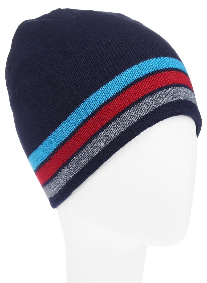 Шапка для мальчика Sela, цвет: темно-синий. HAk-841/254-6302. Размер 52/54HAk-841/254-6302Стильная шапка Sela - отличное решение для прогулок на свежем воздухе и активного отдыха. Шапка легкая, приятная на ощупь и отлично защищает отхолода.