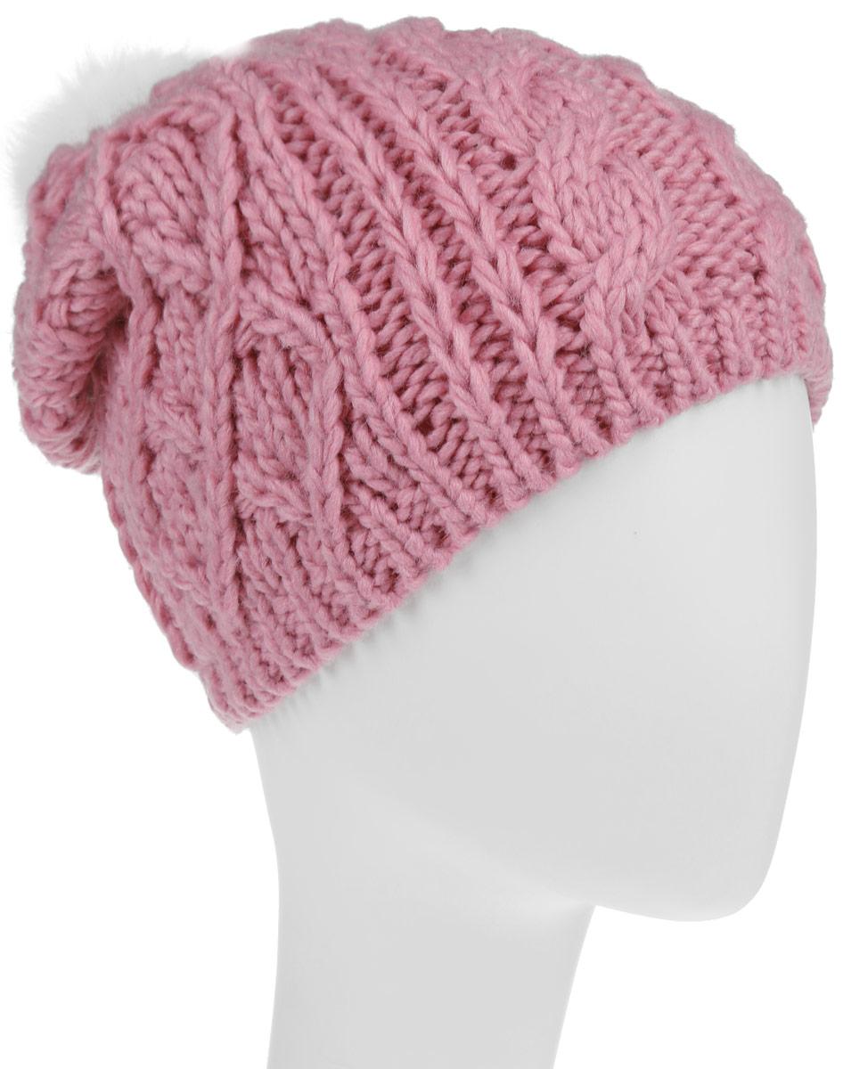Шапка для девочки Sela, цвет: светло-коралловый. HAk-641/016-6303. Размер 54/56HAk-641/016-6303Вязаная шапка Sela для девочек станет идеальным дополнением к вашему образу в холодную погоду. Изделие приятное на ощупь, максимально сохраняет тепло. Благодаря эластичной вязке, модель идеально прилегает к голове.Оформлено изделие крупным вязаным узором и дополнено не большим меховым пушистым помпоном. Край шапки связан резинкой. Внутри - флисовая подкладка.Такой стильный и теплый аксессуар подчеркнет вашу индивидуальность. Шапка надежно защитит от холода и создаст ощущение комфорта.