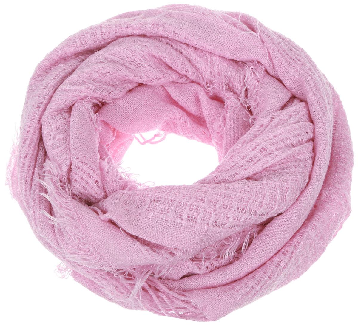 Шарф женский Sela, цвет: розовый. SCw-142/460-6302. Размер 164 см x 50 смSCw-142/460-6302Стильный шарф Sela идеально подойдет для прогулок в холодное время года. Он обладает хорошими дышащими свойствами и хорошо удерживает тепло. Шарф по краям декорирован кистями. Такой шарф станет модным и стильным предметом вашего гардероба. Он улучшит настроение даже в хмурые холодные дни.