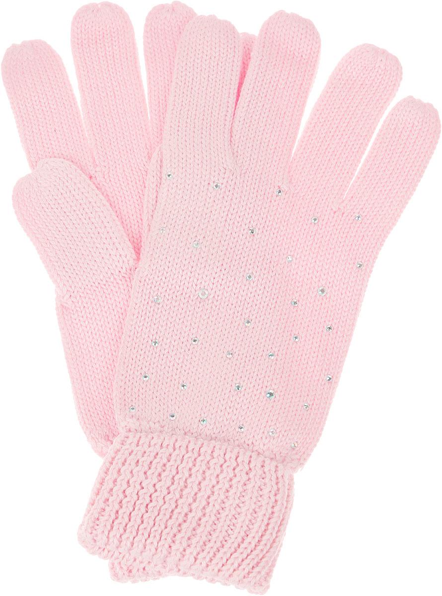 Перчатки для девочки Sela, цвет: светло-розовый. GL-643/057AV-6302. Размер 16GL-643/057AV-6302Вязаные перчатки для девочки Sela идеально подойдут для прогулок в прохладное время года. Изготовленные из высококачественного материала, очень мягкие и приятные на ощупь, не раздражают нежную кожу ребенка, обеспечивая ему наибольший комфорт, хорошо сохраняют тепло. Уютные хлопковые перчатки украшены сверкающими стразами. Верх модели на мягкой резинке, которая не стягивает запястья и надежно фиксирует перчатки на ручках ребенка.Современный дизайн и расцветка делают эти перчатки модным и стильным предметом детского гардероба. В них ваша маленькая модница будет чувствовать себя уютно и комфортно и всегда будет в центре внимания!