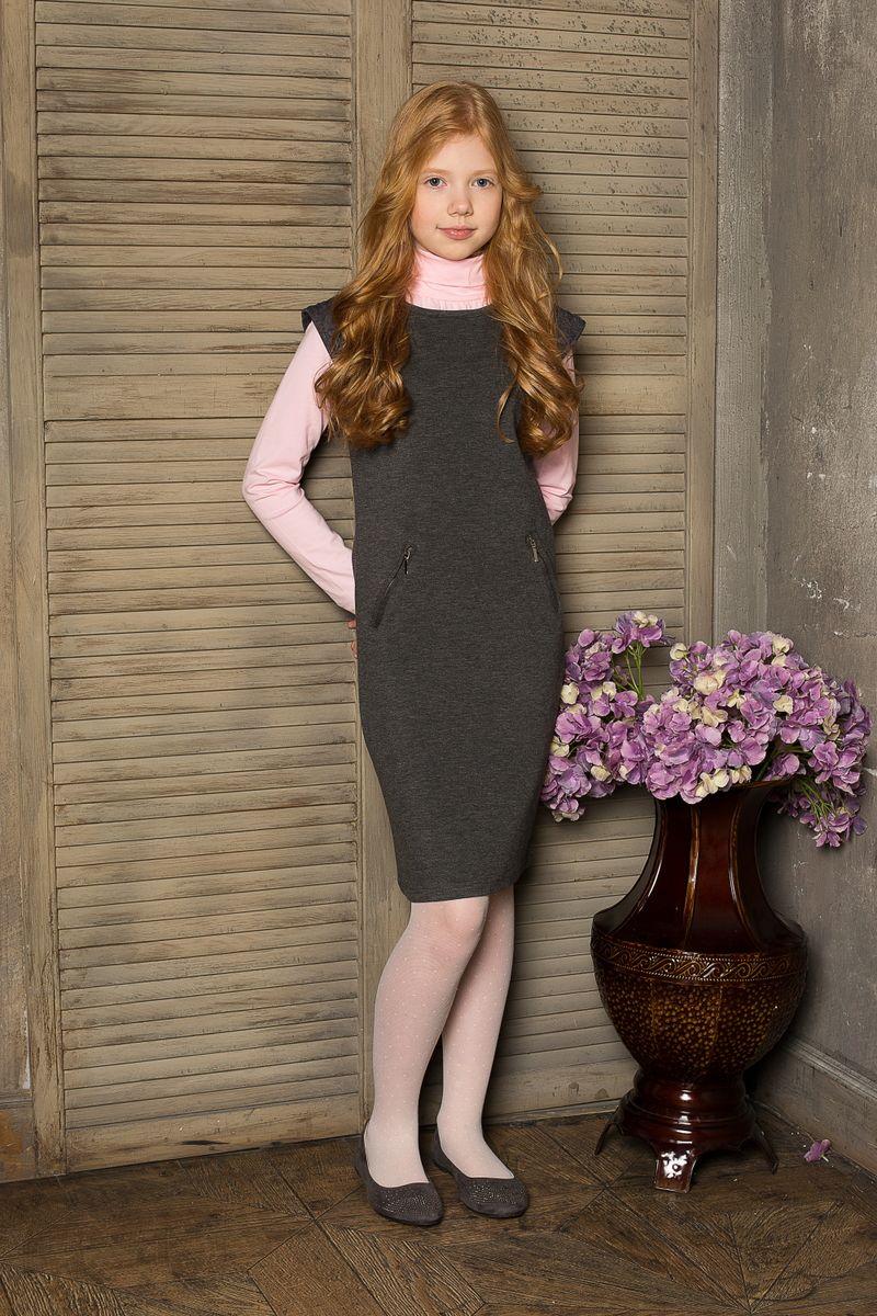 Водолазка для девочки Luminoso, цвет: розовый. 205609. Размер 152205609Водолазка для девочки Luminoso выполнена из хлопка с добавлением эластана. Модель с воротником-гольф и длинными рукавами.