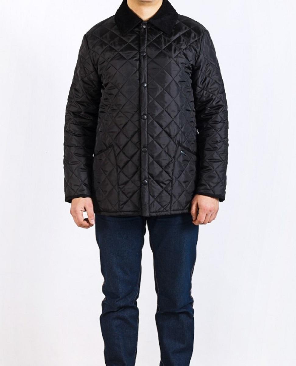 Куртка мужская Montana, цвет: черный. 22306 B. Размер M (48)22306 BСтильная мужская куртка Montana превосходно подойдет для прохладных дней. Куртка выполнена из полиэстера, отлично защищает от дождя и ветра. Воротник выполнен из вельветовой ткани. Модель классического прямого кроя с длинными рукавами и отложным воротником застегивается на крупные кнопки спереди. Изделие дополнено двумя накладными карманами а также двумя внутренними карманами на застежках-молниях. Куртка оформлена стегаными узором.