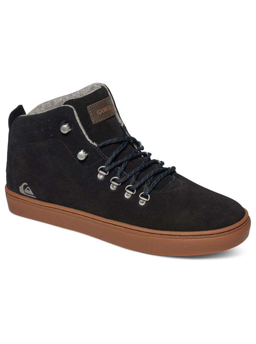 Ботинки мужские Quiksilver Jax, цвет: черный. AQYS100014-XKKC. Размер 12 (44)AQYS100014-XKKCМужские ботинки средней высоты Jax от Quiksilver выполнены из натуральной замши с водоотталкивающей пропиткой. Классическая шнуровка надежно зафиксирует модель на ноге. Удобные верхние петли позволяют быстро снимать и надевать ботинки.Многослойная стелька с функцией поддержки подъема стопы обеспечивает комфорт при движении. Гибкая конструкция подошвы Cupsole с рисунком протектора в елочку и логотипом бренда обеспечивает надежное сцепление с любой поверхностью.