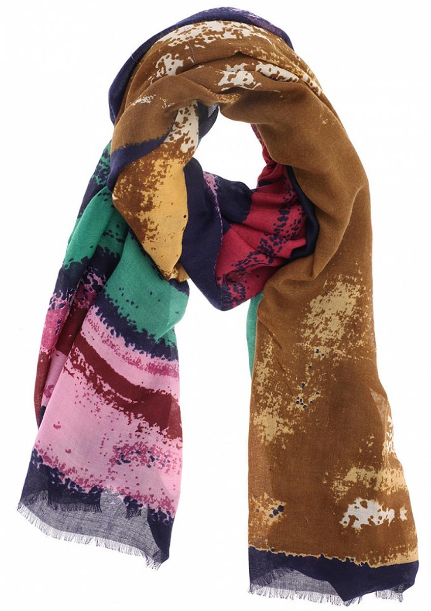 Палантин женский Baon, цвет: темно-синий, светло-коричневый, зеленый. B306. Размер 100 см х 180 смB306_MulticolorЭлегантный палантин Baon согреет вас в непогоду и станет достойным завершением вашего образа.Палантин изготовлен из вискозы с добавлением шерсти. Он оформлен абстрактным принтом в виде пятен и дополнен тонкой бахромой по краю. Такой палантин превосходно дополнит любой наряд и подчеркнет ваш изысканный вкус. Легкий, теплый и изящный палантин принесет в ваш образ утонченность и шарм, и непременно вызовет восхищение окружающих.