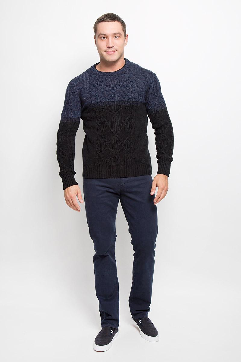 Джемпер мужской Mexx, цвет: черный, темно-синий. MX3001325. Размер L (52)MX3001325Стильный мужской джемпер Mexx станет стильным дополнением вашего образа в прохладные вечера. Модель выполнена из качественного акрила с добавлением шерсти, мохера и полиамида. Джемпер с круглым вырезом горловины и длинными рукавами оформлен оригинальным вязаным узором. Низ изделия и манжеты связаны резинкой.Современный дизайн и расцветка делают этот джемпер модным и стильным предметом мужской одежды, в нем вы всегда будете чувствовать себя уютно и комфортно.