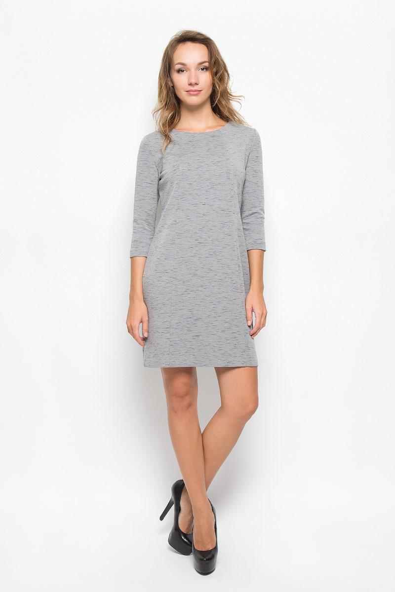 Платье Sela, цвет: серый меланж. DK-117/201-6342. Размер L (48)DK-117/201-6342Элегантное платье Sela выполнено из высококачественного хлопка с добавлением полиэстера. Такое платье обеспечит вам комфорт и удобство при носке и непременно вызовет восхищение у окружающих.Модель средней длины с рукавами 3/4 и круглым вырезом горловины выгодно подчеркнет все достоинства вашей фигуры. Изделие превосходно тянется и удобно сидит. Изысканное платье-миди создаст обворожительный и неповторимый образ.Это модное и комфортное платье станет превосходным дополнением к вашему гардеробу, оно подарит вам удобство и поможет подчеркнуть ваш вкус и неповторимый стиль.