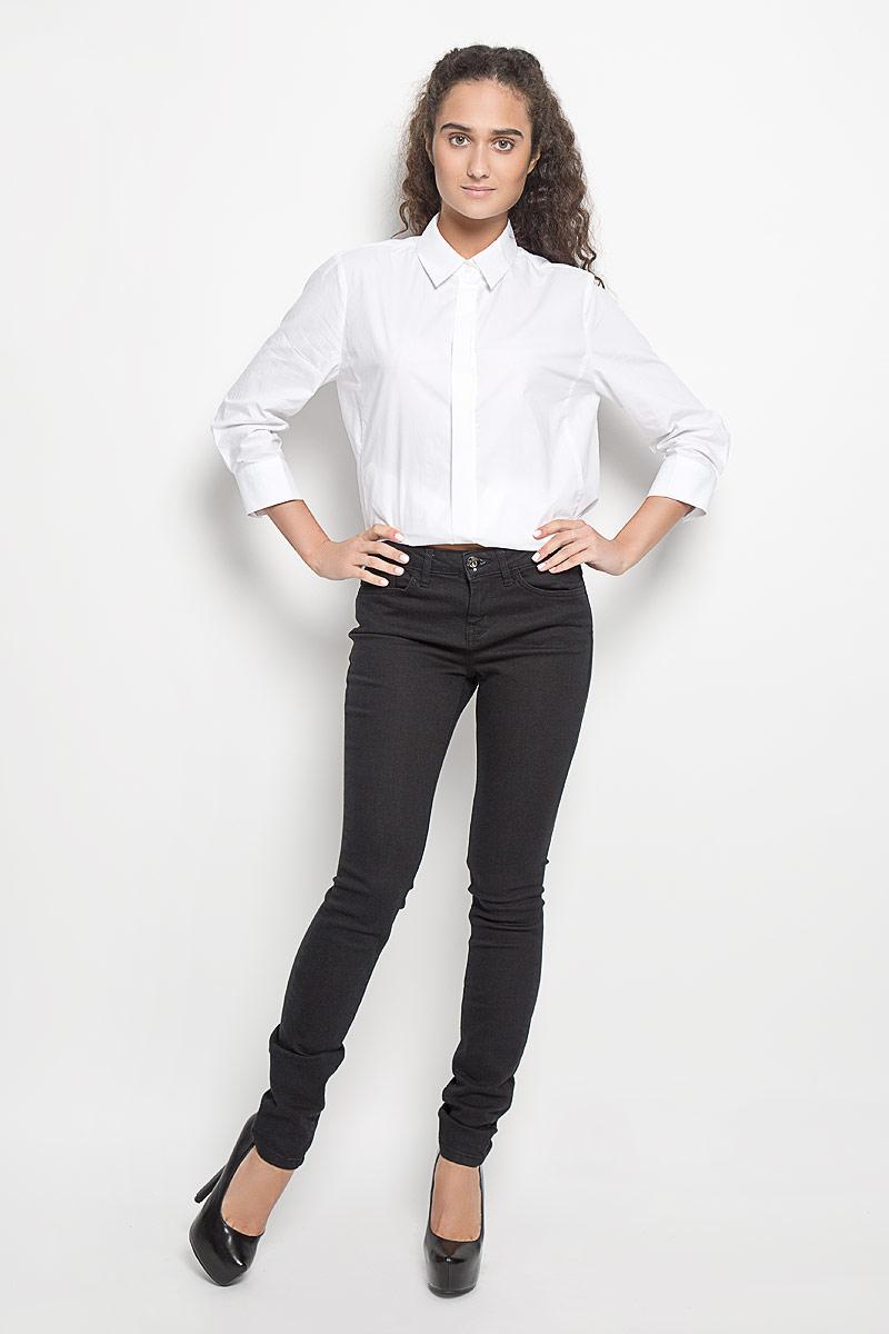 Джинсы женские Tom Tailor Contemporary Alexa, цвет: черный. 6204918.09.75_1056. Размер 25-32 (40/42-32)6204918.09.75_1056Стильные женские джинсы Tom Tailor Contemporary Alexa - это джинсы высочайшего качества, которые прекрасно сидят. Они выполнены из высококачественного эластичного хлопка с добавлением полиэстера, что обеспечивает комфорт и удобство при носке. Модные джинсы скинни средней посадки станут отличным дополнением к вашему современному образу. Джинсы застегиваются на пуговицу в поясе и ширинку на застежке-молнии, имеют шлевки для ремня. Джинсы имеют классический пятикарманный крой: спереди модель оформлена двумя втачными карманами и одним маленьким накладным кармашком, а сзади - двумя накладными карманами.Эти модные и в то же время комфортные джинсы послужат отличным дополнением к вашему гардеробу.