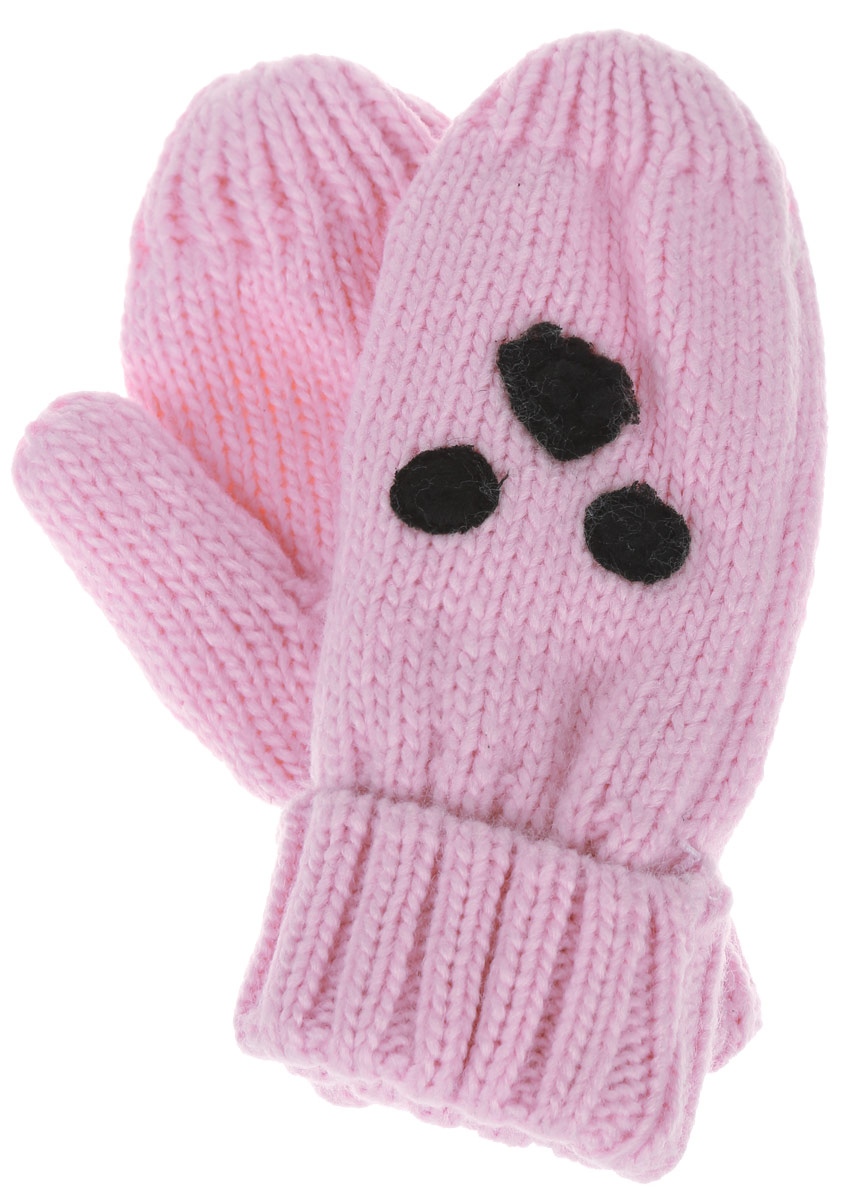 Варежки для девочки Sela, цвет: розовый. GL-543/238AP-6303. Размер 12GL-543/238AP-6303Вязаные варежки для девочки Sela идеально подойдут вашей маленькой принцессе для прогулок в прохладную погоду. Изготовленные из акрилаи полиэстера, они максимально сохраняют тепло, мягкие и приятные на ощупь, идеально сидят на руке. Модель дополнена широкими эластичными манжетами, не стягивающими запястья и надежно фиксирующими их на руках ребенка. Изделие украшено аппликацией. В таких варежках ваш ребенок будет чувствовать себя тепло, уютно и комфортно.