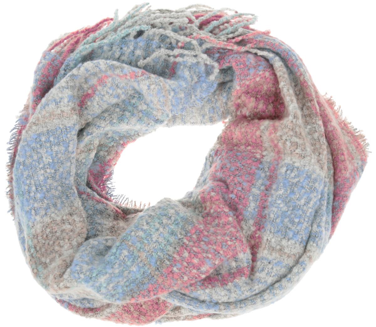 Шарф женский Sela, цвет: мультиколор. SCw-142/465-6404. Размер 180 см x 64 смSCw-142/465-6404Восхитительный женский вязаный шарф Sela - отличная модель для зимней погоды. Выполненный из полиэстера, он прекрасно сохраняет тепло и защищает от холода. Шарф связан оригинальным узором и оформлен декоративными кисточками. Такой аксессуар достойно дополнит ваш гардероб.