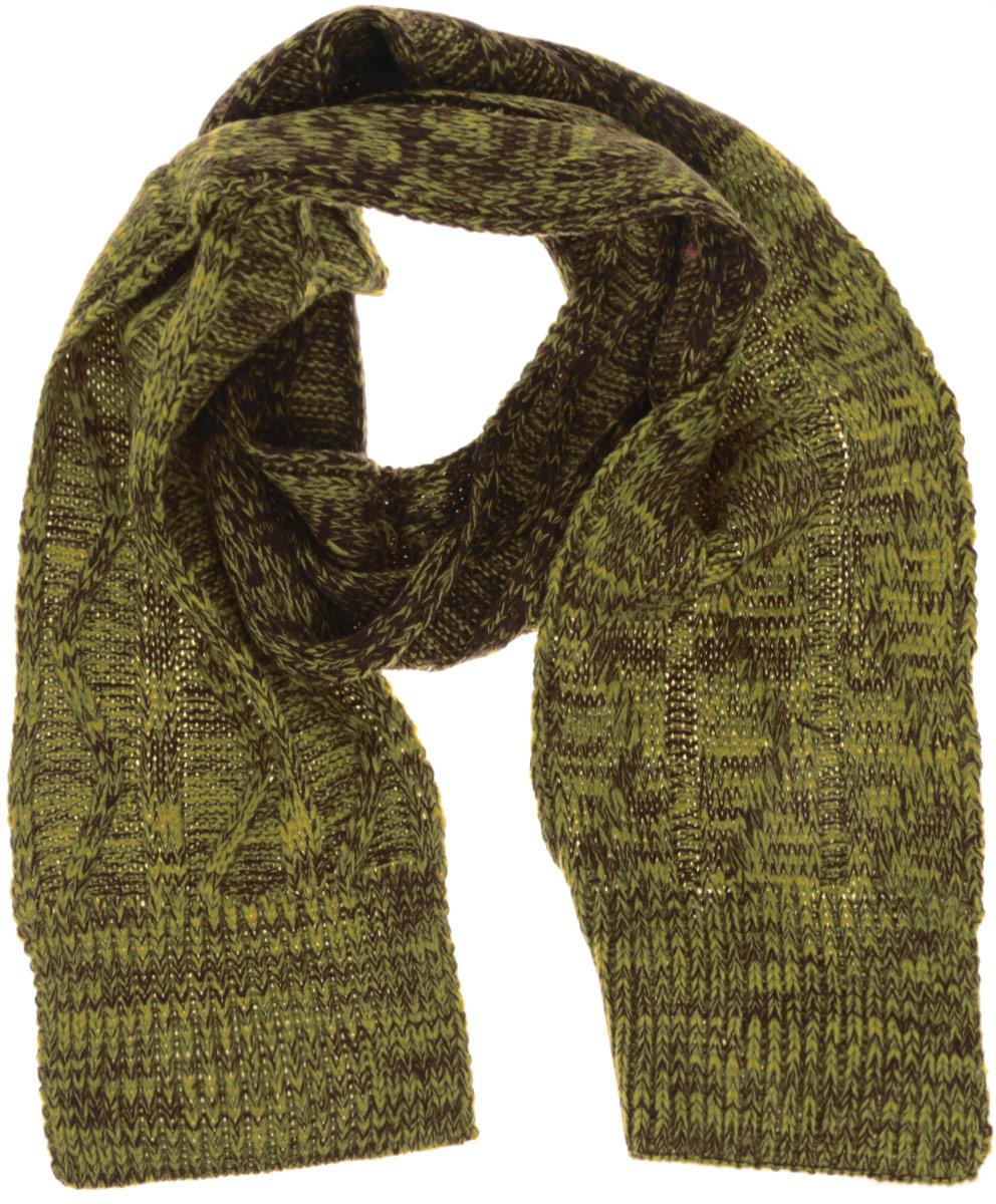 Шарф для мальчика Sela, цвет: желтый, коричневый. SC-842/009AJ-6302. Размер 148 см x 15 смSC-842/009AJ-6302Стильный детский шарф Sela идеально подойдет для прогулок в холодное времягода.Онобладает хорошими дышащими свойствами и хорошо удерживает тепло, т.к. выполнен из акриловой пряжи. Такой шарф станет модным и стильным предметом детского гардероба.Он улучшитнастроение даже в хмурые холодные дни.