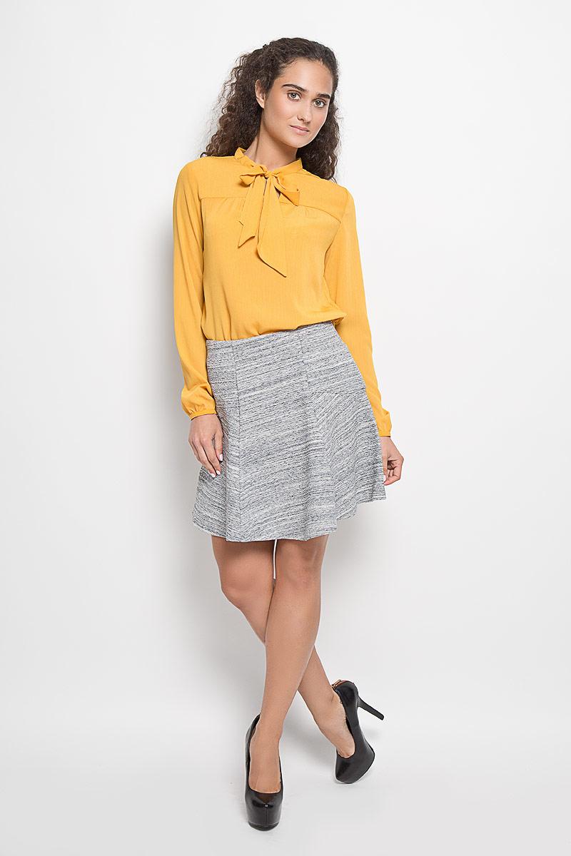 Юбка Sela, цвет: серый меланж. SKk-318/833-6322. Размер L (48)SKk-318/833-6322Эффектная юбка Sela выполнена из эластичного хлопка с добавлением полиэстера, она обеспечит вам комфорт и удобство при носке.Элегантная юбка средней длины имеет широкую эластичную резинку на талии.Модная юбка-миди выгодно освежит и разнообразит ваш гардероб. Создайте женственный образ и подчеркните свою яркую индивидуальность! Классический фасон и оригинальное оформление этой юбки сделают ваш образ непревзойденным.