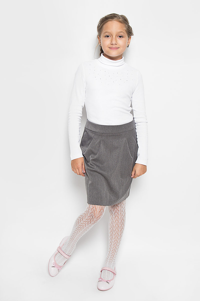 Юбка для девочки Orby School, цвет: серый. 64417_OLG, вариант 1. Размер 152, 10-11 лет64417_OLG, вар.1Стильная юбка для девочки Orby School идеально подойдет для школы и повседневной носки. Изготовленная из полиэстера и вискозы с добавлением эластана, она необычайно мягкая и приятная на ощупь, не сковывает движения и позволяет коже дышать, не раздражает даже самую нежную и чувствительную кожу ребенка, обеспечивая наибольший комфорт. Материал не скатывается и легко гладиться. Юбка-миди застегивается сзади на потайную застежку-молнию и имеет в поясе скрытую эластичную резинку на пуговицах, с помощью которой можно изделие подгонять по фигуре. Спереди модель дополнена оригинальными складками, а сзади небольшой шлицей.Такая юбка станет отличным дополнением к гардеробу вашей девочки. В ней она всегда будет чувствовать себя уверенно и удобно.