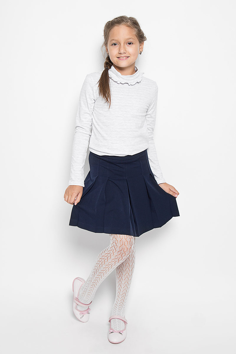 Юбка для девочки Nota Bene, цвет: темно-синий. CWA26002B. Размер 152CWA26002A/CWA26002BКлассическая юбка для девочки Nota Bene идеально подойдет вашей моднице и станет отличным дополнением к ее школьному гардеробу. Изготовленная из полиэстера и вискозы с добавлением лайкры, она мягкая и приятная на ощупь, не сковывает движения и позволяет коже дышать, не раздражает нежную кожу ребенка, обеспечивая наибольший комфорт. Модель-миди застегивается на застежку-молнию, расположенную сбоку. С внутренней стороны пояс регулируется эластичной резинкой с пуговицами. Изделие оформлено широкими складками.В такой модной юбке ваша дочурка будет чувствовать себя комфортно, уютно и всегда будет в центре внимания!