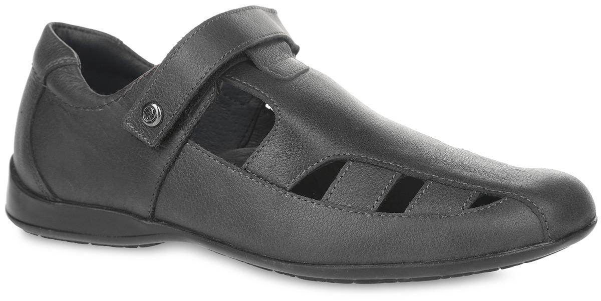 Сандалии для мальчика Elegami, цвет: темно-серый. 5-510031302. Размер 375-510031302Модные сандалии от Elegami придутся по душе вашему мальчику. Модель выполнена из натуральной кожи, что обеспечивает уют и комфорт ногам.Ремешок с застежкой-липучкой обеспечивает надежную фиксацию изделия на ноге. Внутренняя поверхность из натуральной кожи не натирает. Стелька из натуральной кожи дополнена супинатором, который обеспечивает правильное положение стопы ребенка при ходьбе и предотвращает плоскостопие.Стильные сандалии - незаменимая вещь в гардеробе каждого мальчика!