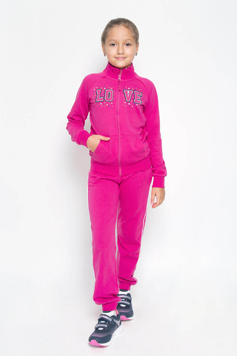 Толстовка для девочки PlayToday, цвет: розовый. 369006. Размер 134369006Стильная толстовка для девочки PlayToday, изготовленная из хлопка и полиэстера, мягкая и приятная на ощупь, не сковывает движения ребенка и позволяет коже дышать. Застегивается на молнию с защитой подбородка.Украшена аппликацией, петельной вышивкой в стиле 3D и металлизированными стразами разной формы. Воротник, рукава и низ на трикотажной резинке. Модель дополнена карманом-кенгуру. Эта толстовка - настоящее воплощение комфорта, она послужит отличным дополнением к гардеробу вашей девочки.