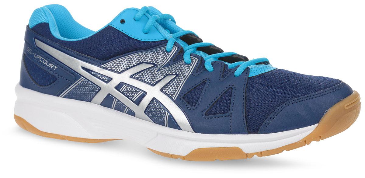 Кроссовки женские Asics Gel-Upcourt, цвет: синий, серебристый. B450N-5893. Размер 10H (41)B450N-5893Кроссовки Asics выполнены из сетчатого текстиля комбинированных цветов и искусственной кожи. Модель оформлена фирменными нашивками. На ноге модель фиксируется с помощью шнуровки. Внутренняя поверхность выполнена из мягкого сетчатого текстиля. Стелька выполнена из ЭВА-материала с поверхностью из текстиля. Подошва изготовлена из легкого и гибкого ЭВА-материала. Поверхность подошвы выполнена из прочной резины и дополнена протектором, который гарантирует отличное сцепление с любой поверхностью.