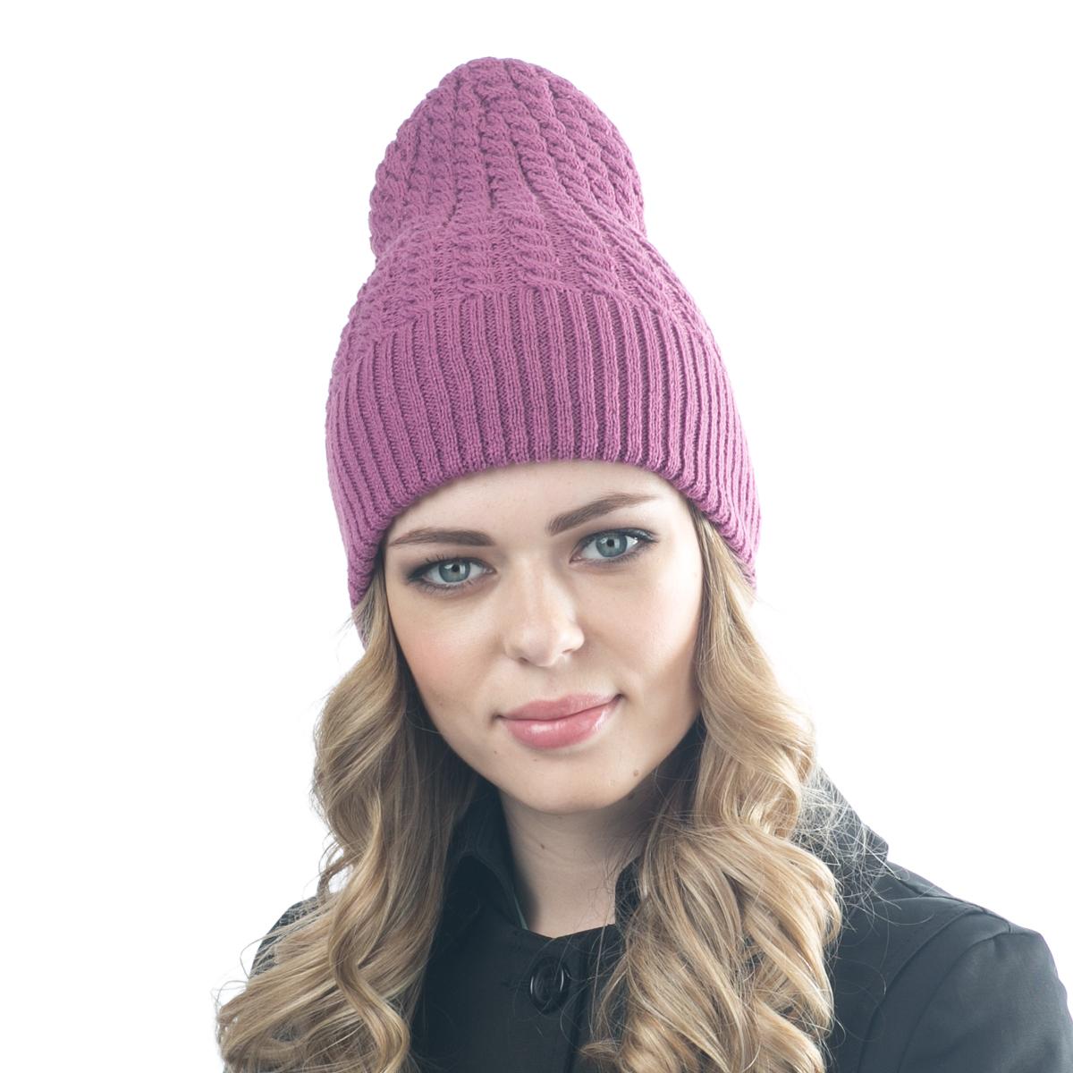 Шапка женская Flioraj, цвет: пурпурный. 07FJ. Размер 56/5807FJСтильная двусторонняя шапка Flioraj выполнена из шерсти с добавлением вискозы и полиамида. Модель имеет крупную плотную вязку и оформлена оригинальным вязаным рисунком. Уважаемые клиенты!Размер, доступный для заказа, является обхватом головы.