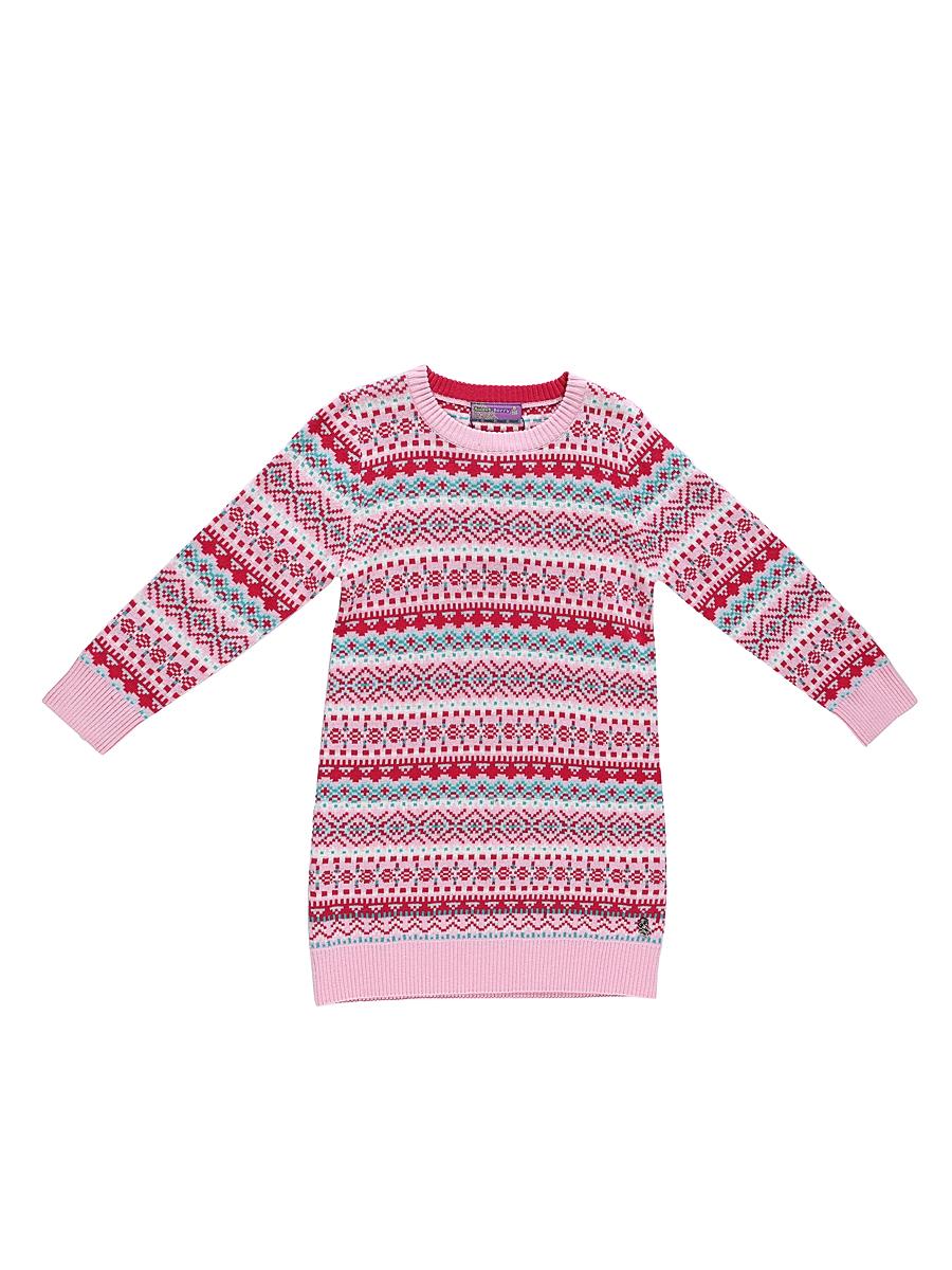 Платье для девочки Sweet Berry, цвет: розовый. 205427. Размер 110205427Платье Sweet Berry выполнено из трикотажного материала и оформлено оригинальным рисунком. Модель прямого кроя с круглым вырезом горловины и длинными рукавами.