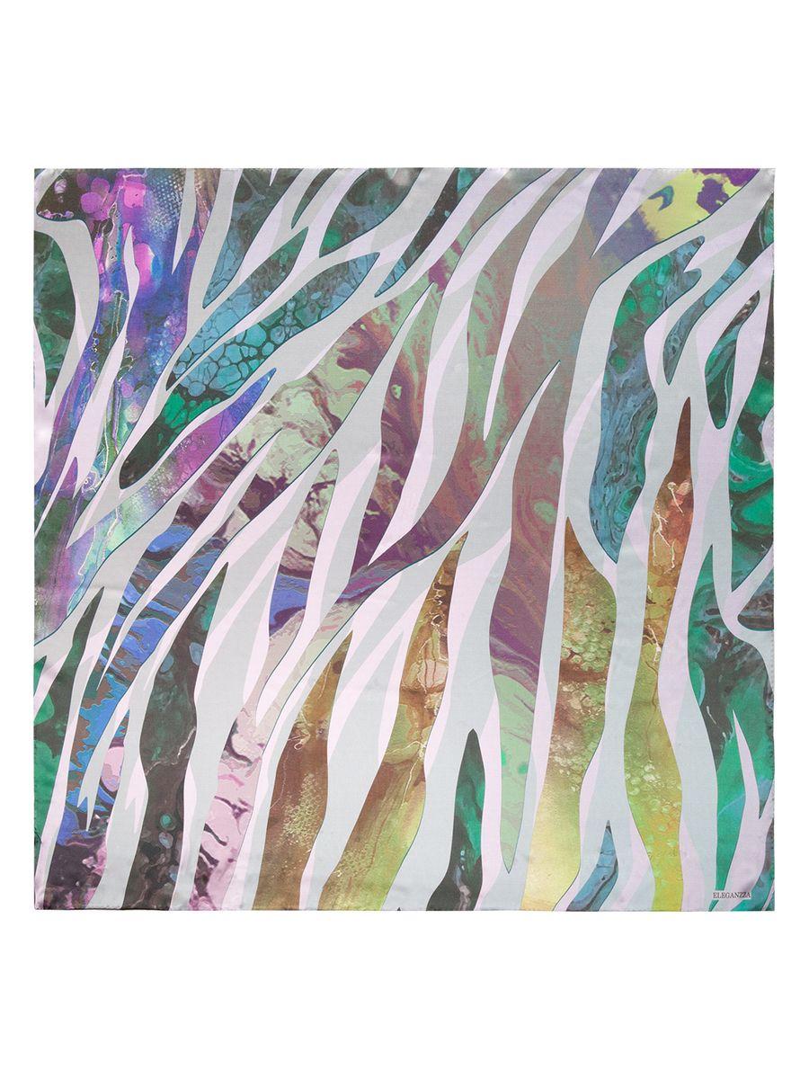 Платок женский Eleganzza, цвет: лиловый, фиолетовый, зеленый. KA03-8128. Размер 90 см х 90 смKA03-8128Женский платок Eleganzza, изготовленный из шелка, мягкий и приятный на ощупь.Изделие оформлено оригинальным принтом.