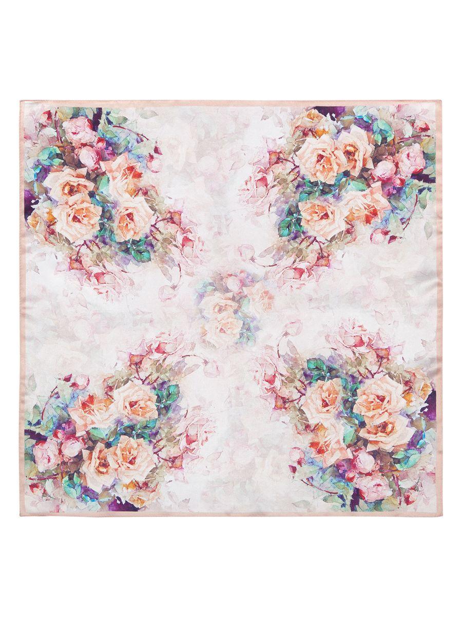 Платок женский Eleganzza, цвет: бледно-розовый. SS03-7846. Размер 55 см х 55 смSS03-7846Женский платок Eleganzza, изготовленный из шелка, мягкий и приятный на ощупь.Изделие оформлено цветочным принтом.