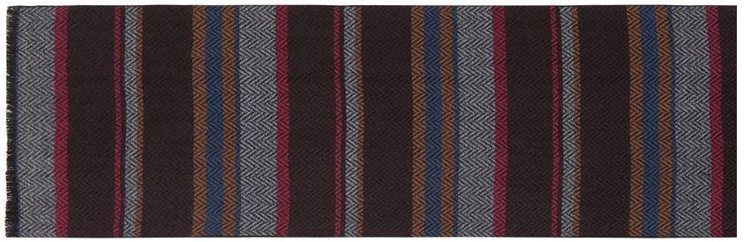 Шарф мужской Labbra, цвет: темно-коричневый, серый, малиновый. LJG33-362. Размер 30 см х 180 смLJG33-362Мужской шарф Labbra, изготовленный из шерсти и вискозы, мягкий и приятный на ощупь. Изделие оформлено оригинальным принтом. По короткому краю модель оформлена бахромой.